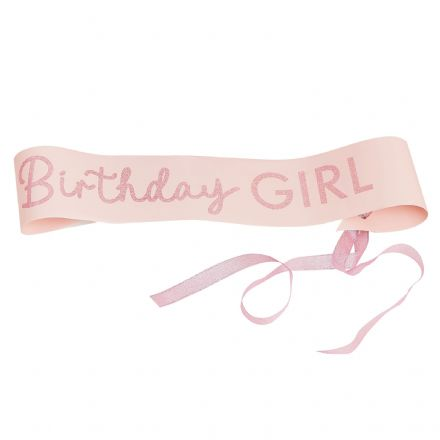 Pamper Party, Pink Sleepover Party Birthday Girl Sash